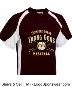 Youth Line Drive 2 Button Jersey Design Zoom
